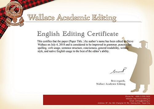 Editing certification