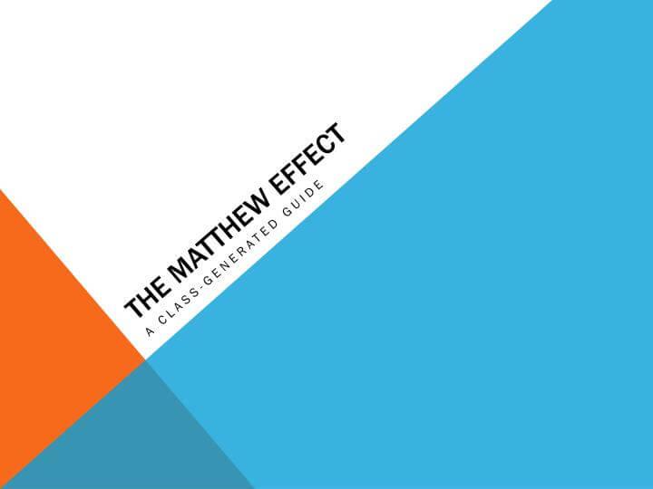 什麼是馬太效應(Matthew Effect)並它是如何提升科學類學術英文論文的知名度?